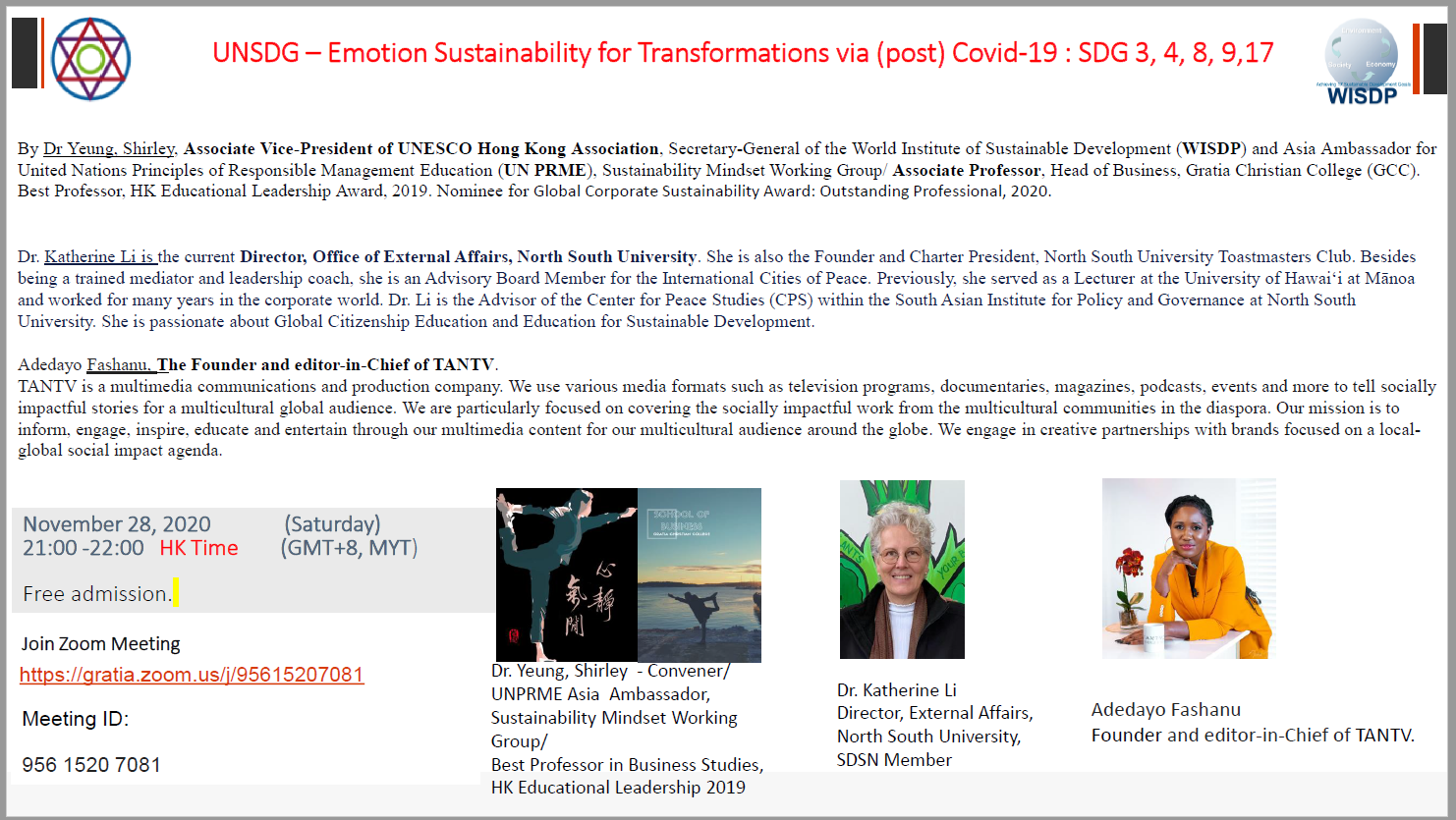 UNSDG Transformation 28 Nov 2020