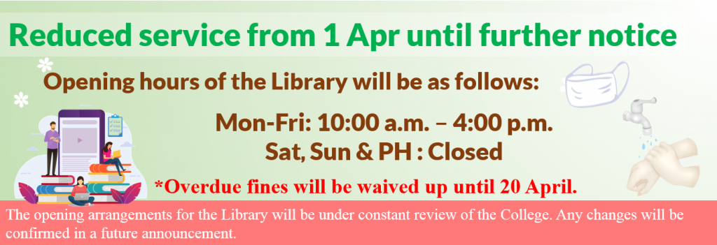 Reduced service from 1 Apr